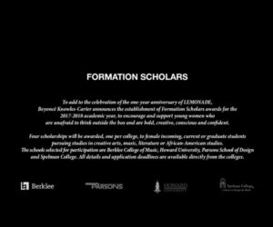 Beyonce-College-Scholarship-Lemonade-Anniversary-Formation