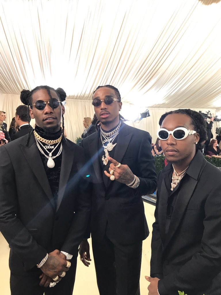 Migos breaking barriers in their all-black Versace tuxedos